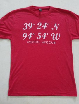Weston, MO Latitude & Longitude Tee