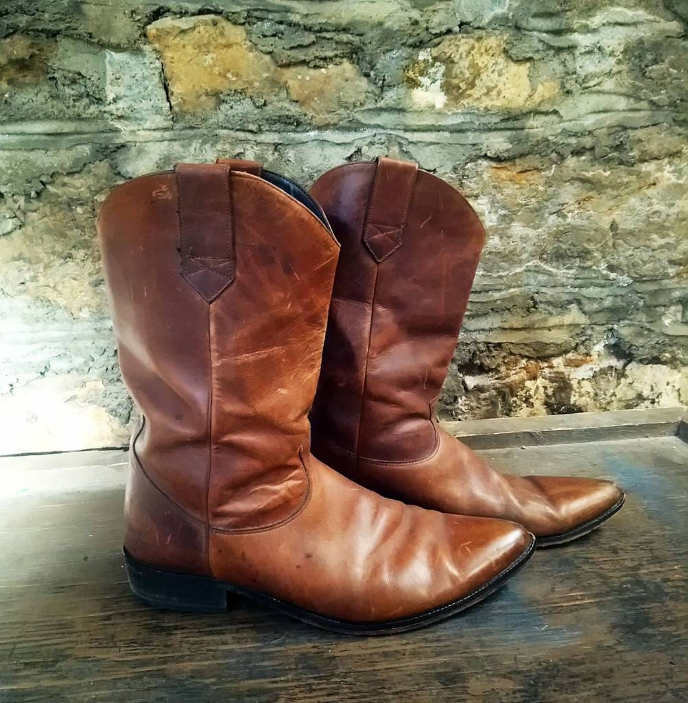 Size 11 Men's Zodiac Brown Leather Boots