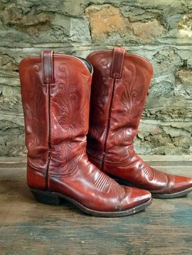 Size 8 Dan Post Brown Cowboy Boots