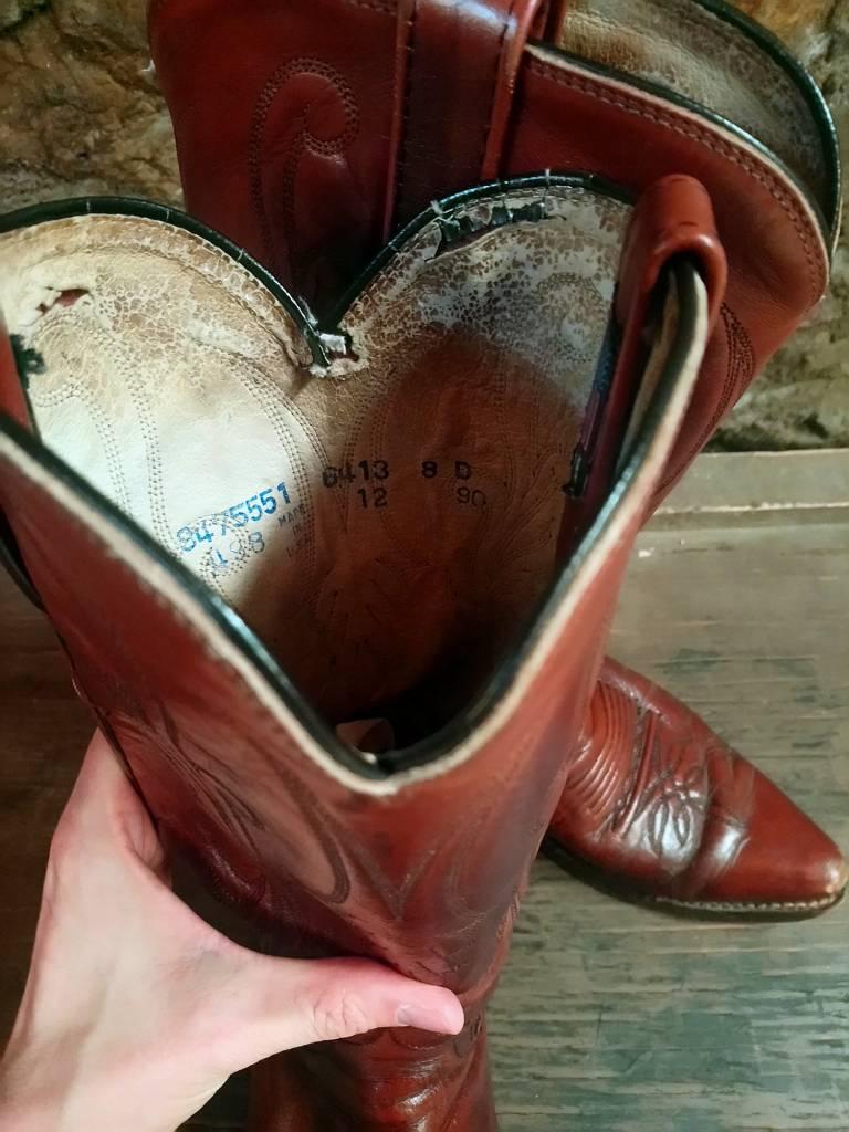Size 8 Dan Post Brown Cowboy Boots