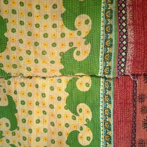 Kantha Sari Throw #3