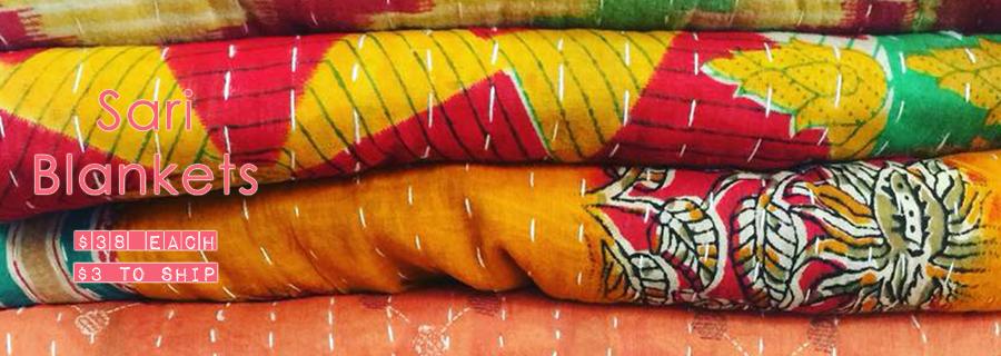 Kantha Sari Blanket
