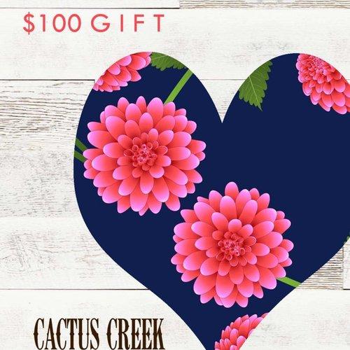 Cactus Creek $100 Sweet Heart Gift Card