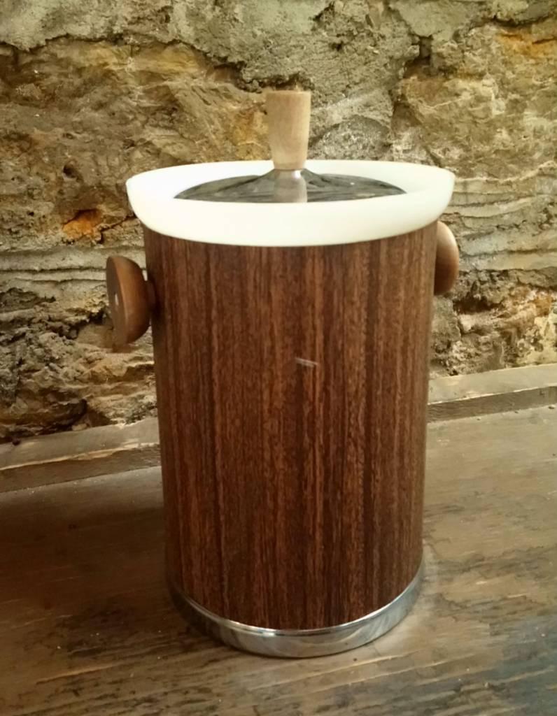 Kromex Faux Bois Mid Century Ice Bucket