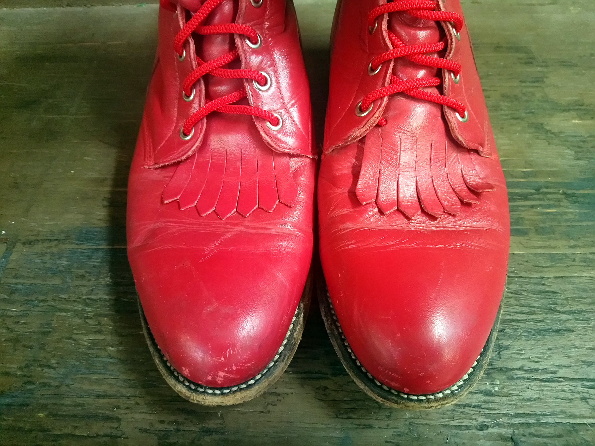 Vintage Red Boots