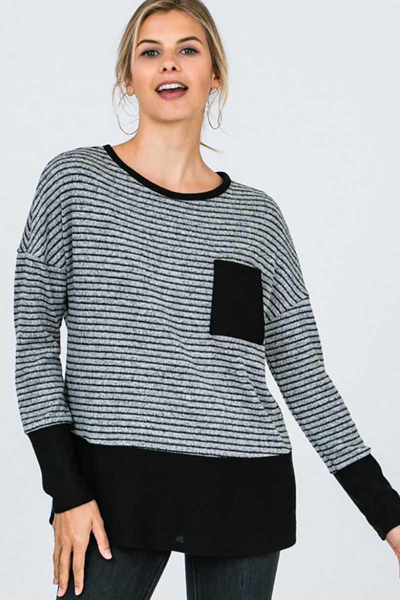 Color Block Soft Sweatshirt