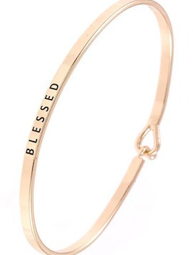 Blessed Gold Bangle Bracelet