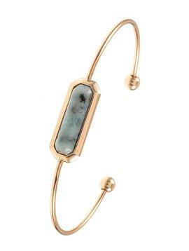 Kiwi Stone Cuff Bracelet