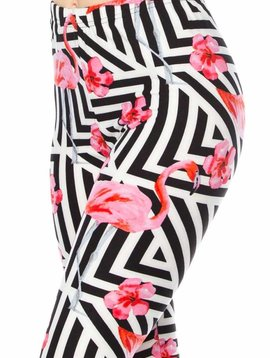 Geometric Flamingo Legging