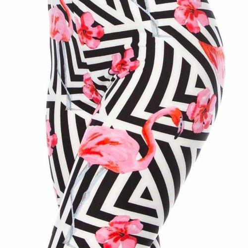 Geometric Flamingo Legging