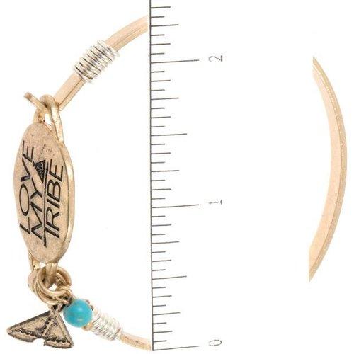 Love my Tribe Gold Bangle Bracelet