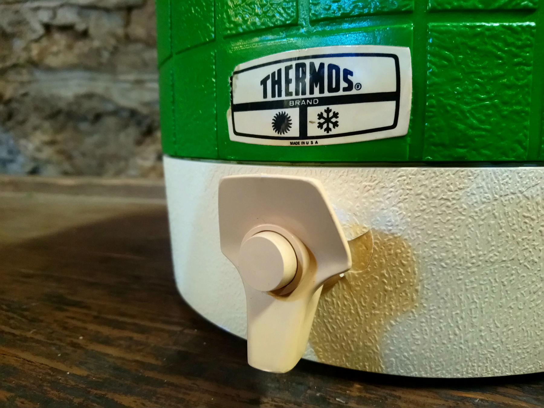 Vintage Green Thermos Picnic Jug