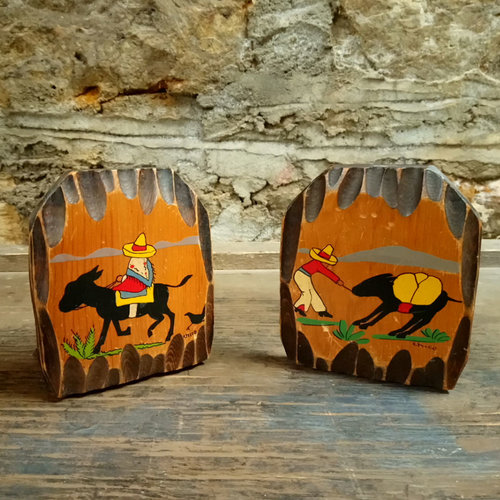 Vintage Mexican Book Ends
