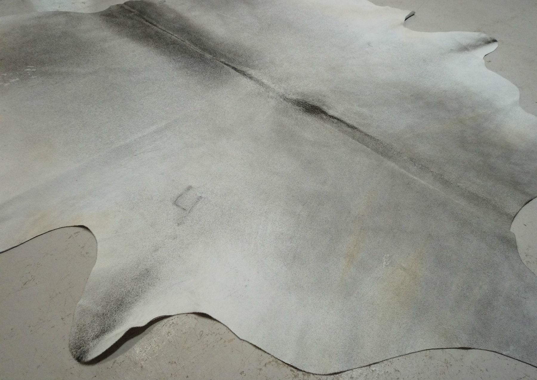 Gray + White Cowhide 2405