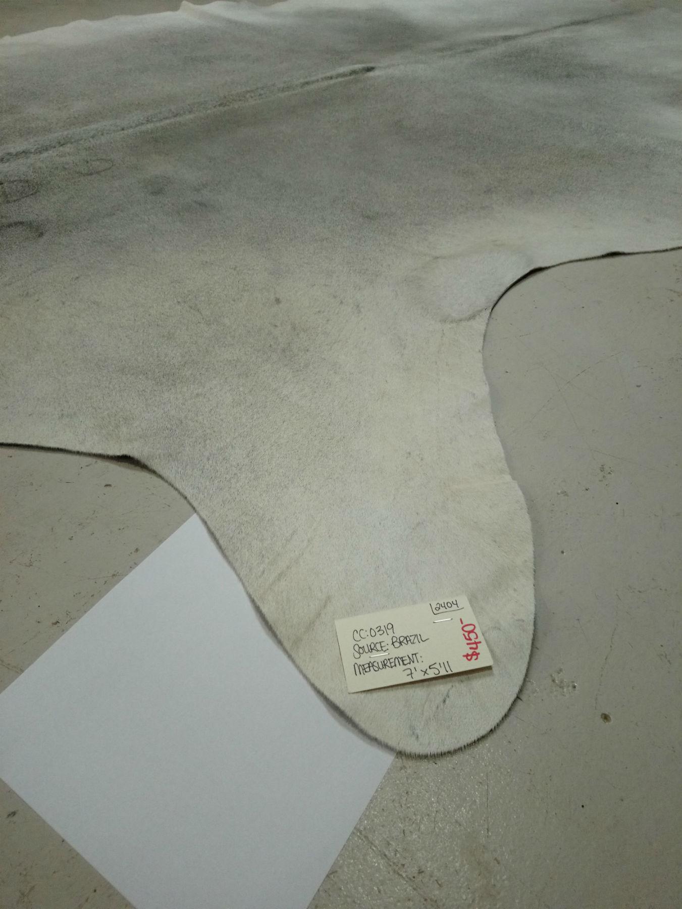 Gray + White Cowhide 2404