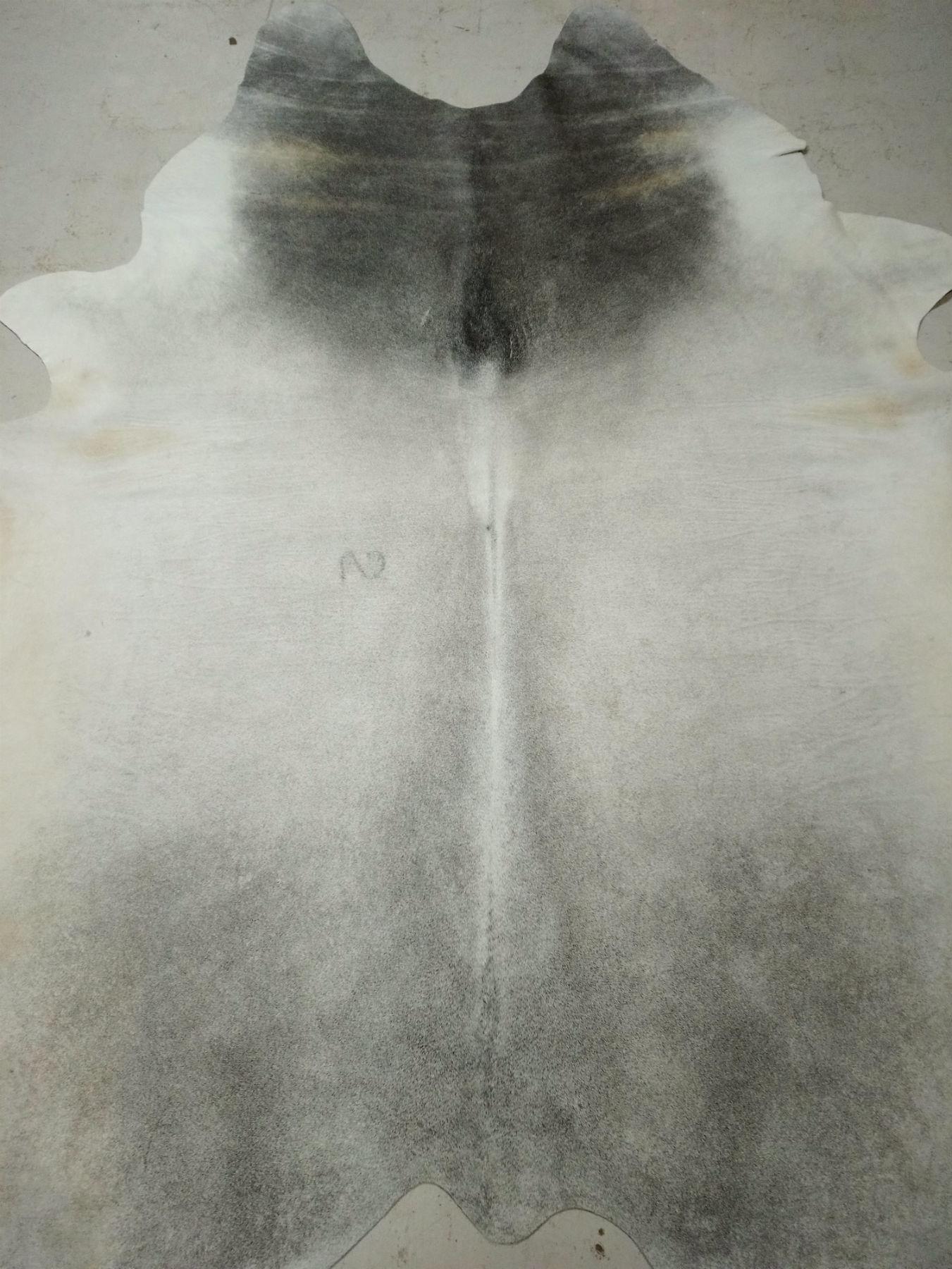 Gray + White Cowhide 2410