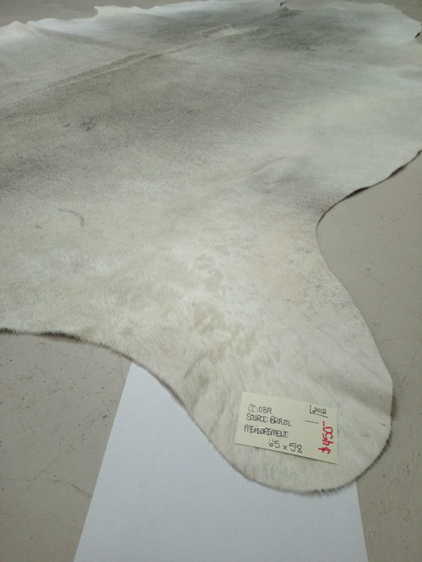 Gray + White Cowhide 2412