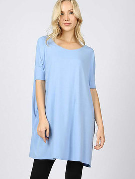 Spring Blue Square Tunic