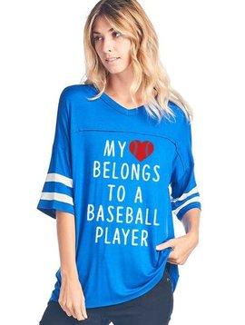 My Heart Belongs to a Baseball Player Top