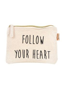 Follow Your Heart Zipper Pouch