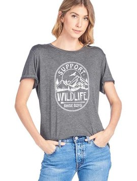 Support Wildlife Raise Boys Top