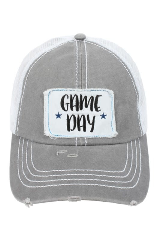 Game Day Ball Cap Gray