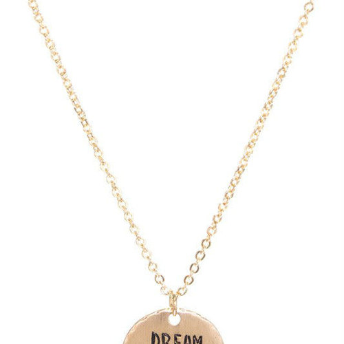 Dream Big Pendant Necklace Gold