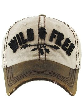 Wild & Free Distressed Cap