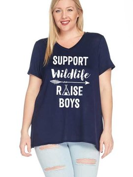 CURVY Support Wildlife Raise Boys Top