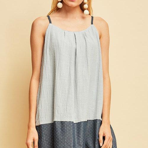 Dusty Blue Crinkle Cotton Dress