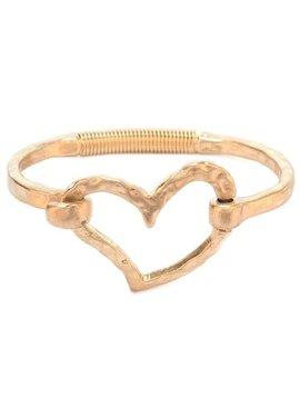 Hinged Heart Bracelet Gold