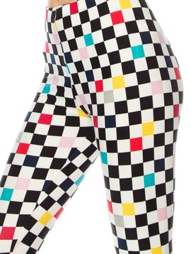 Checker Print Legging