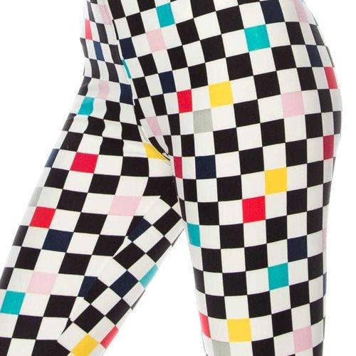 Checker Print Legging