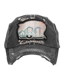 Happy Camper Scenic Mountain Ball Cap