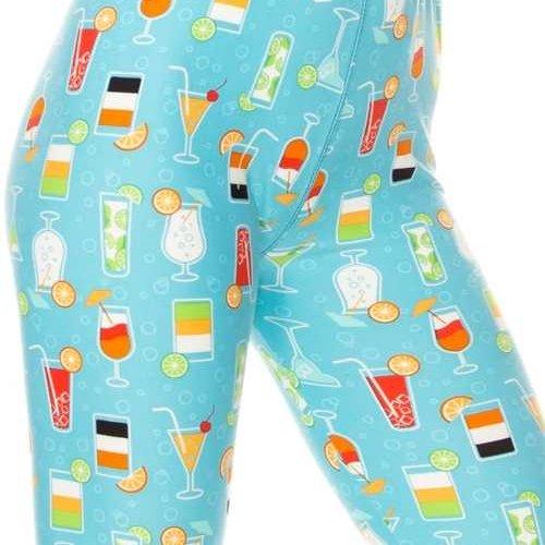Cocktail Print Legging