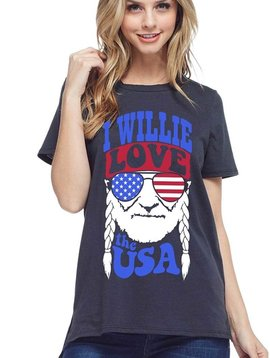 I Willie Love the USA Top