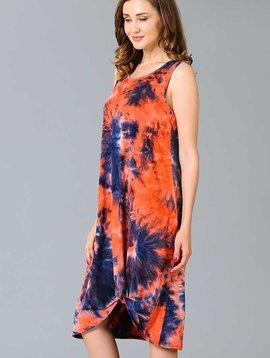 CURVY Tie Dye Side Twist Dress