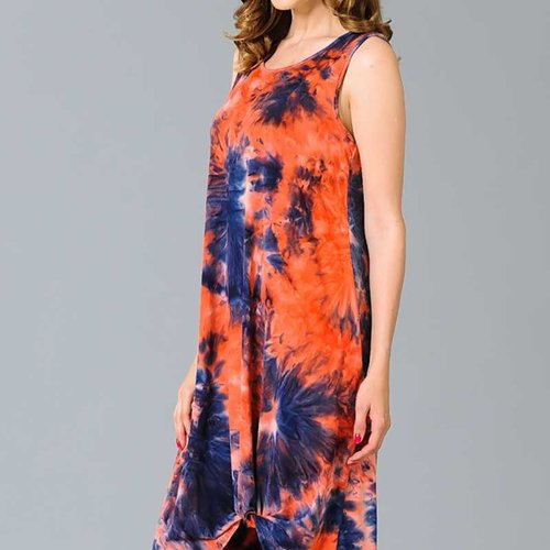 CURVY Tie Dye Side Twist Dress