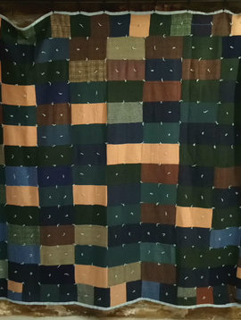 Vintage Wool Patch Blanket Quilt