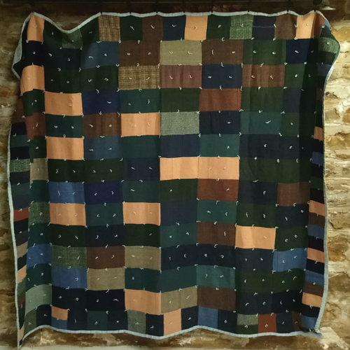 Vintage Wool Patch Blanket Quilt