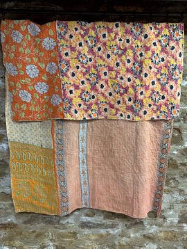 Kantha Sari Throw #28