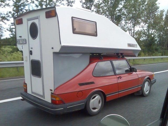 Vintage Saab converted to RV