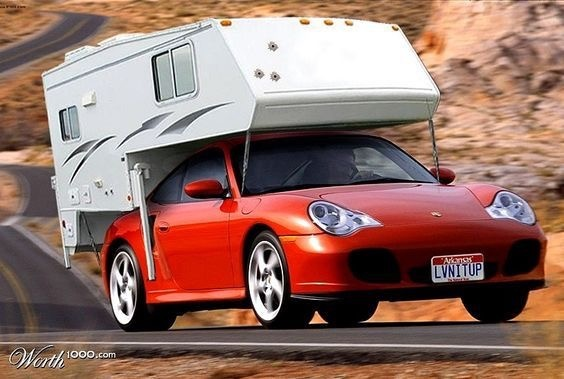 Vintage Porsche converted to RV