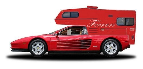 Ferrari converted to RV