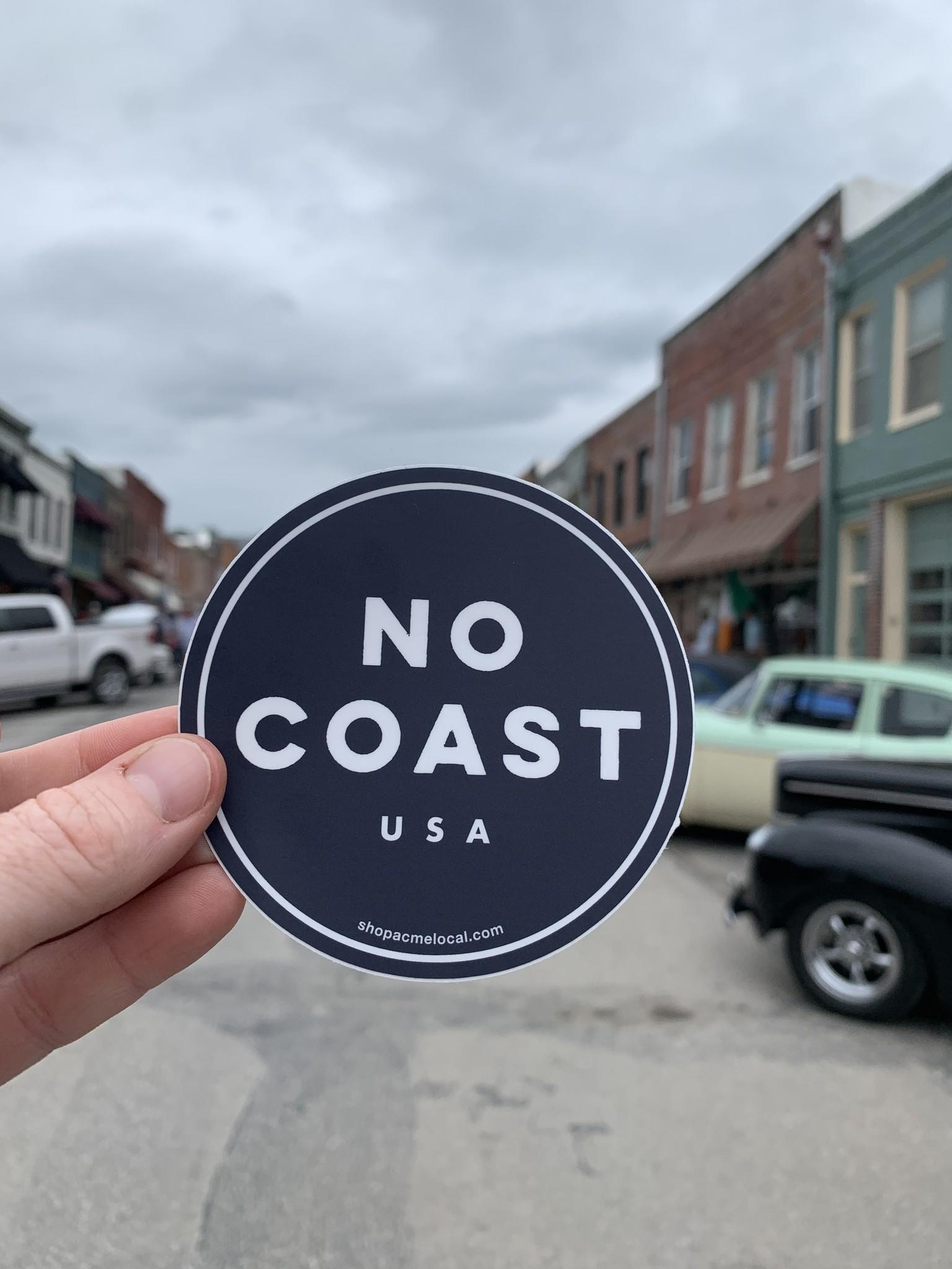 No Coast USA Sticker