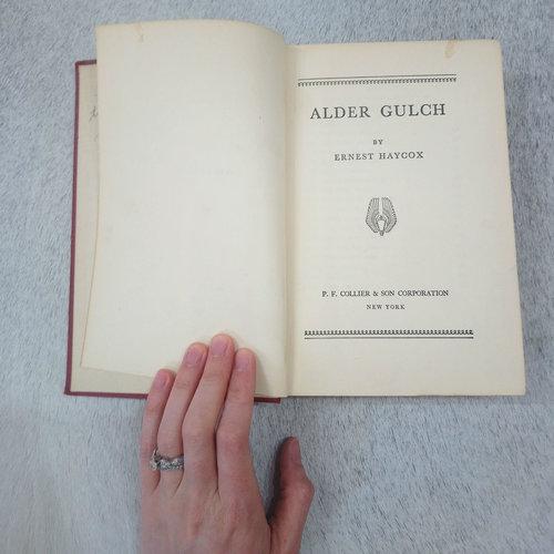ALDER GULCH Vintage Book by Ernest Haycox