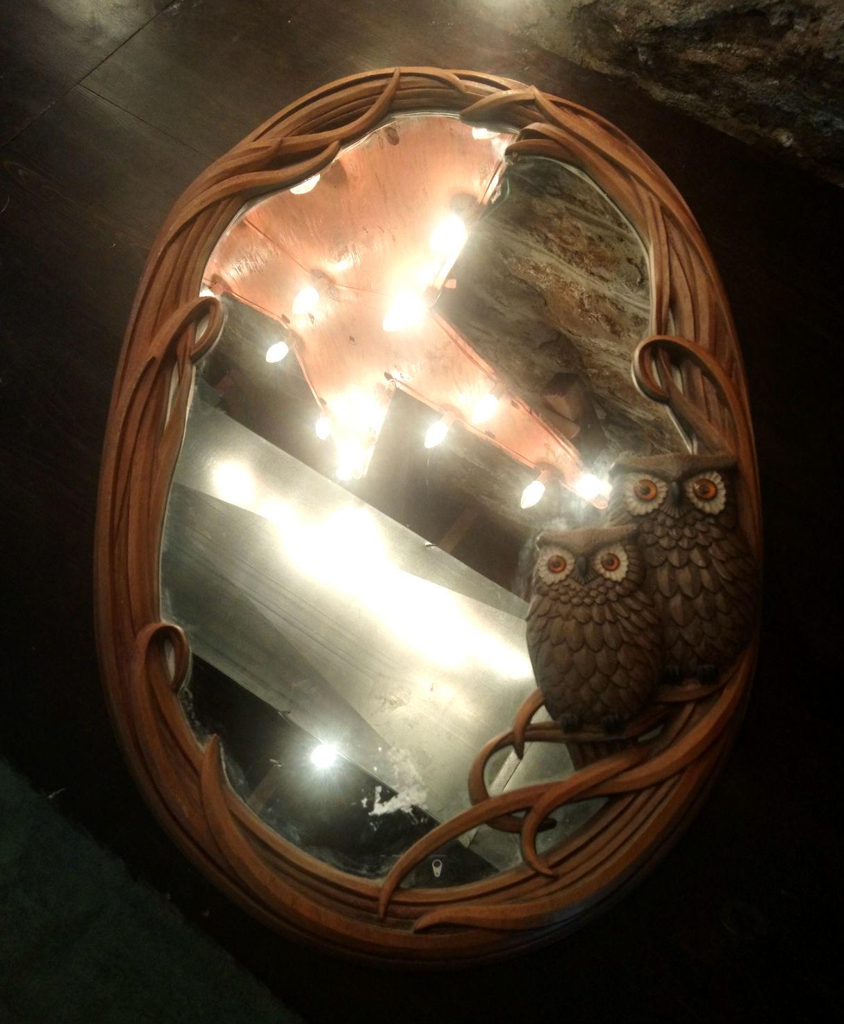 Vintage Owl Mirror