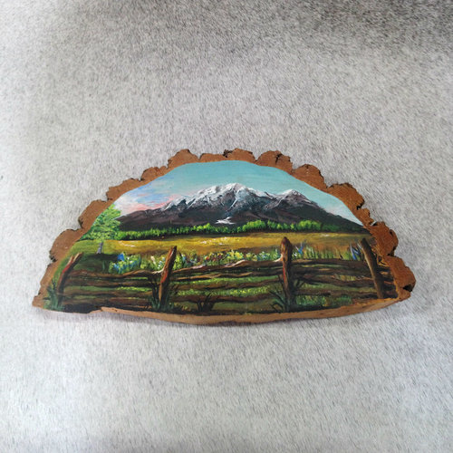 Vintage Log Painting