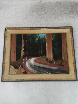 Vintage Wood Highway Painting