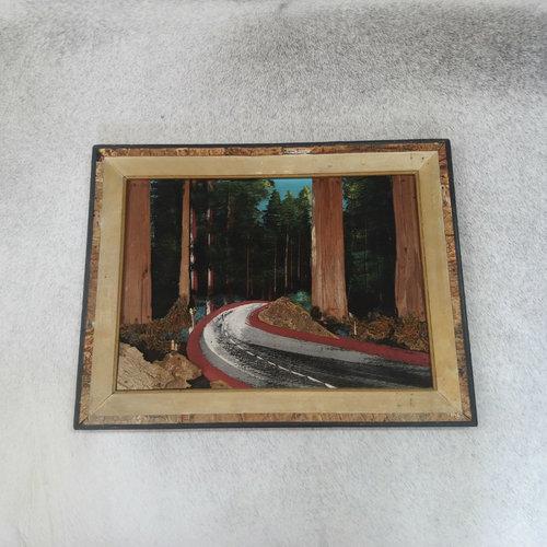 Vintage Wood Highway Painting